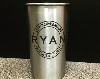 Groomsmen gift, Groomsman Gift, Personalized tumbler, Stainless steel, Monogram Growler, Best man Gift, Father of the bride, wedding,