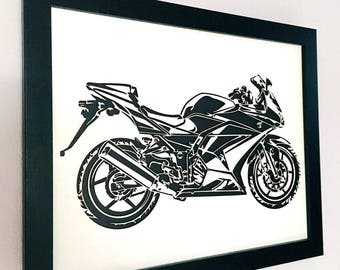 3D Stencil | Motorcycle