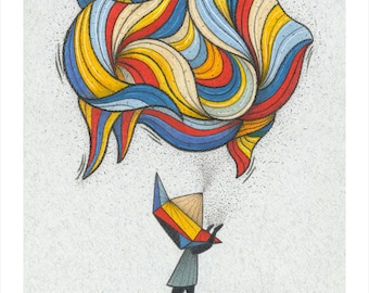 Master of transformation Giclee Print - Art Print - Geometric Art Print - Fine Art Print - Housewarming Gift - Mystic Print - Modern Art