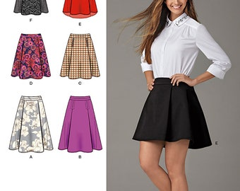 Simplicity 1282 Size 6-14 or 16-24 Misses' Skirts with Length and Hem Variations Sewing Pattern  / UNCUT Factory Folded