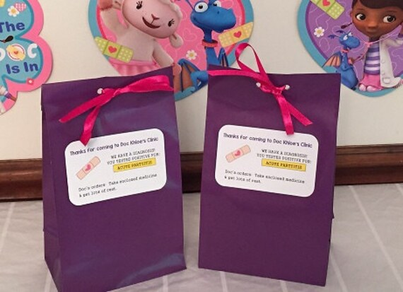 & Personalized Doc Mcstuffins Birthday Party Favor Bags Doc