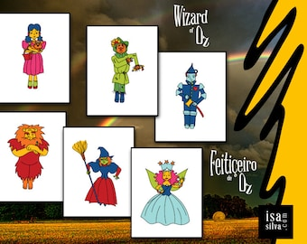 Wizard of Oz (all 6 or individually) * * Fine Art prints, illustration, Wall Decoration, Books * * Wizard of Oz