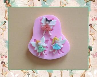 Moule silicone: 3 petites fées.