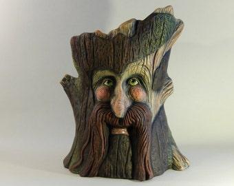 Ent Sculpture - Tree Face - Tree Spirit - LOTR Gifts - Unique Pot - Face Pot - Tree Pot - Our Family Crafts
