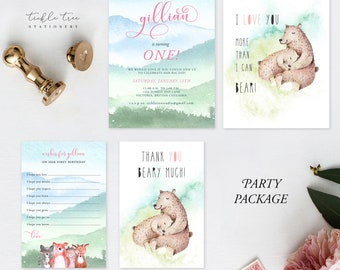Birthday Party Package - Turning One the Woodlands Way (Style 13828)