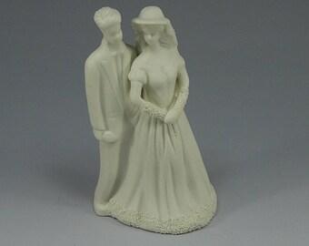 Bride and Groom, Cake Topper, Wedding, Something Old, Gift for Bride, Ceramic, Retro, Wedding Cake,  Wedding Cake Decoration, Wedding Shower
