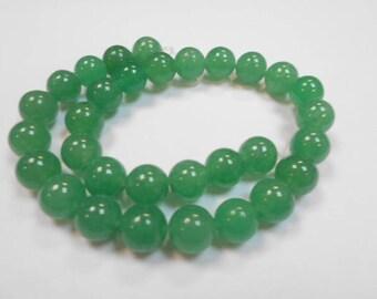 1 strand 31 beads round 12 mm aventurine
