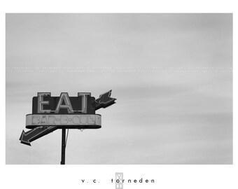 eat, fine art black & white photographic print