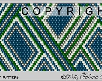 PATTERN ONLY - Edie's Tiles Bracelet Peyote Pattern .PDF File