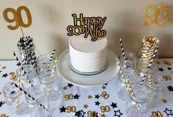 Ideas For 90th Birthday Party Decorations Cake
