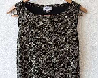 sparkly black and gold tank top