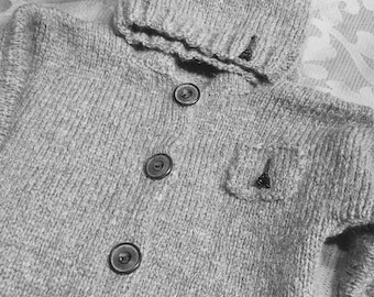 Wool baby hat and vest set