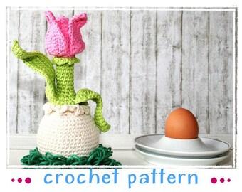 Tulip - Egg Sitter - Egg Cozy - Crochet Pattern - PDF