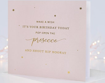 Birthday Card For Friend, Best Friend Card, Prosecco Card, Champagne Card, Wine Card, Alcohol Card, Funny Birthday Card, Birthday Card