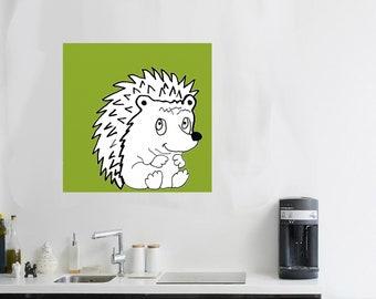 woodland artwork hedgehog Art hedgehogs painting forest creatures Nursery hedgehog gift canvas art hedgehog critter hedgehog animal art