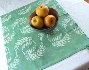 mint green wheat tea towel. cotton twill with a tab