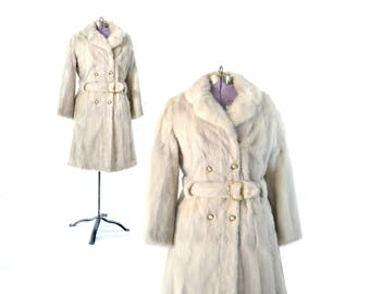 Mink Coat, White Fur Coat, Wedding Fur, Wedding Coat, Azurene Mink, 1960s Coat, 60s Coat, Womens Fur Coat