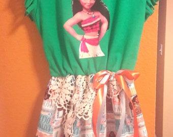Moana Princess Dress