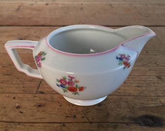 F & B Co Floral Porcelain Creamer Made in Czechoslovakia