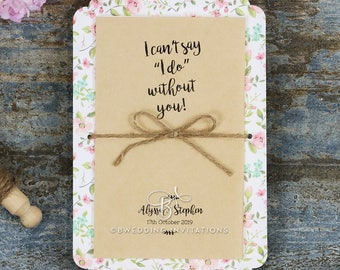 Gorgeous Sweetly Rustic Wedding Invitation - BH5042