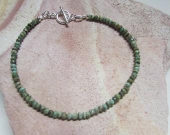Turquoise bracelet, Genuine turquoise bracelet, layering bracelet, minimalist bracelet, dainty bracelet, stacking bracelet, Christmas gift