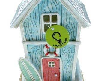 Dollhouse Miniature Fairy Garden Mermaid Garden Lighted Beach House