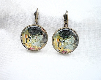 Earrings the kiss of klimt