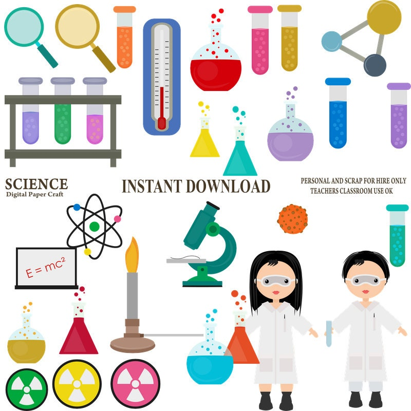 science clipart chemistry clipart school clipart experiment rh etsystudio com
