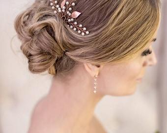 Wedding hair accessory Bridal hair clip Wedding hair pin Bridal headpiece Wedding hair accessories rose gold hair pin Bridal hair pin