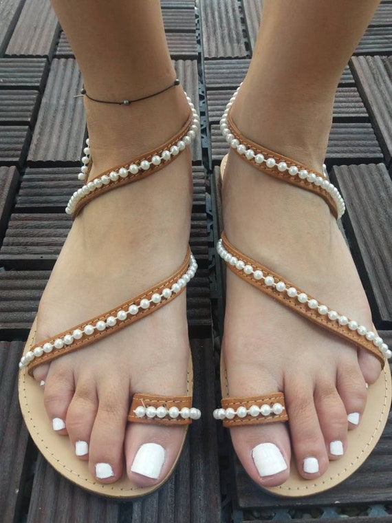 sandals wedding ZOE to Wedding handmade sandals pearl sandals sandals shoes sandals white leather bridal order beach sandals wedding BTHwOqwExg