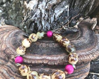 Almond beads & wood