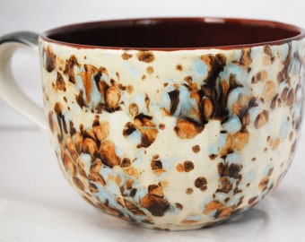 Big Coffee Mugs - Chocolate Mocha Marble