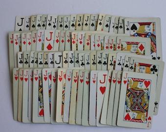 Jumping Jacks,   Set of 14 Jack playing cards, Jack cards, swap cards, Jack embellishment
