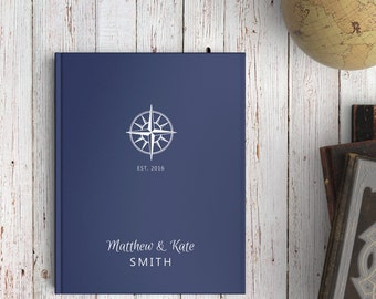 Nautical Wedding Guest Book, Navy Wedding Guest Book, Navy Blue Wedding, Nautical Guest Book, Color Choices Available, GB078