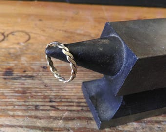 Fine ring braided Viking Celtic medieval sterling silver brass bronze