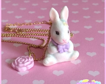 Spring bunny necklace cute and kawaii lolita style