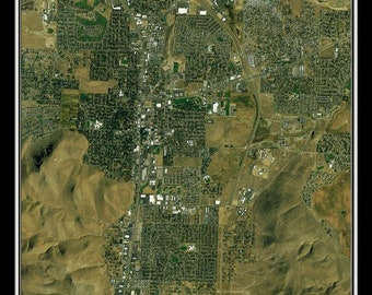 Carson City Nevada Satellite Poster Map