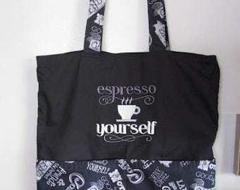 Espresso Eco Friendly Tote, Purse, Bag