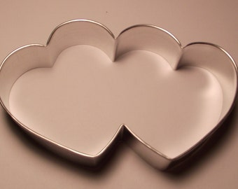 """5 """" Double Heart Cookie Cutter"""