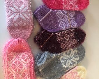 7 piece wool socks Wool slippers. women wool slippers. Hand knitted slipper socks. Natural  wool socks.Minimal slippers. gift.Home slippers.