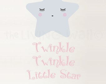 Twinkle Twinkle Little Star Wall Decal, Star Nursery Decor, Baby Room Wall Art, Star Nursery Decor Decals, Australian Made