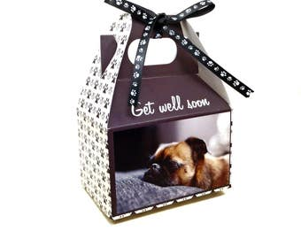 Dog Treats - Puppy Get Well Soon - Gourmet Dog Treats Gift Box Vegetarian All Natural - Shorty's Gourmet Treats