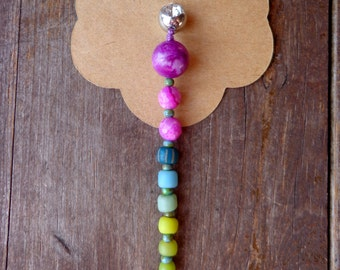 long dangle belly button ring, purple belly button jewelry, mermaid belly ring dangle, hippie jewerly, unique belly ring tribal body jewelry