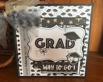 Graduate Way to Go - Completed Scrapbook Album
