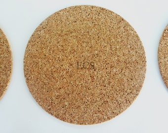 "3"" Pack of 20 or 40 - Cork Discs 3"" x 1/16"" Cork Tile Backing With Adhesive For Coasters & Other Craft Projects"
