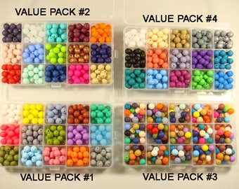 SMART VALUE PACK - 9 mm Silicone Round Bead Box - Free Bead Storage Case Included