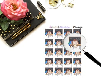 Harley Studies /Hedgehog Stickers. Perfect for your planning and scrapbooking needs!