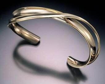 Gold Cuff Bracelet in 14K or 18K Gold.
