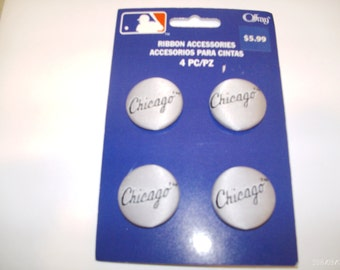 Offray CHicago White Sox Ribbon BUttons
