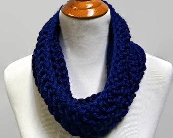 Royal Blue Cowl, Crochet Cowl, Chunky Cowl Scarf, Neck Warmer, Fall Fashion, Women's Scarf, Circle Scarf, Chunky Knit Cowl, Soft Scarf